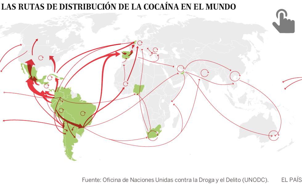 La mayor invasión de cocaína llega a Europa a través de España