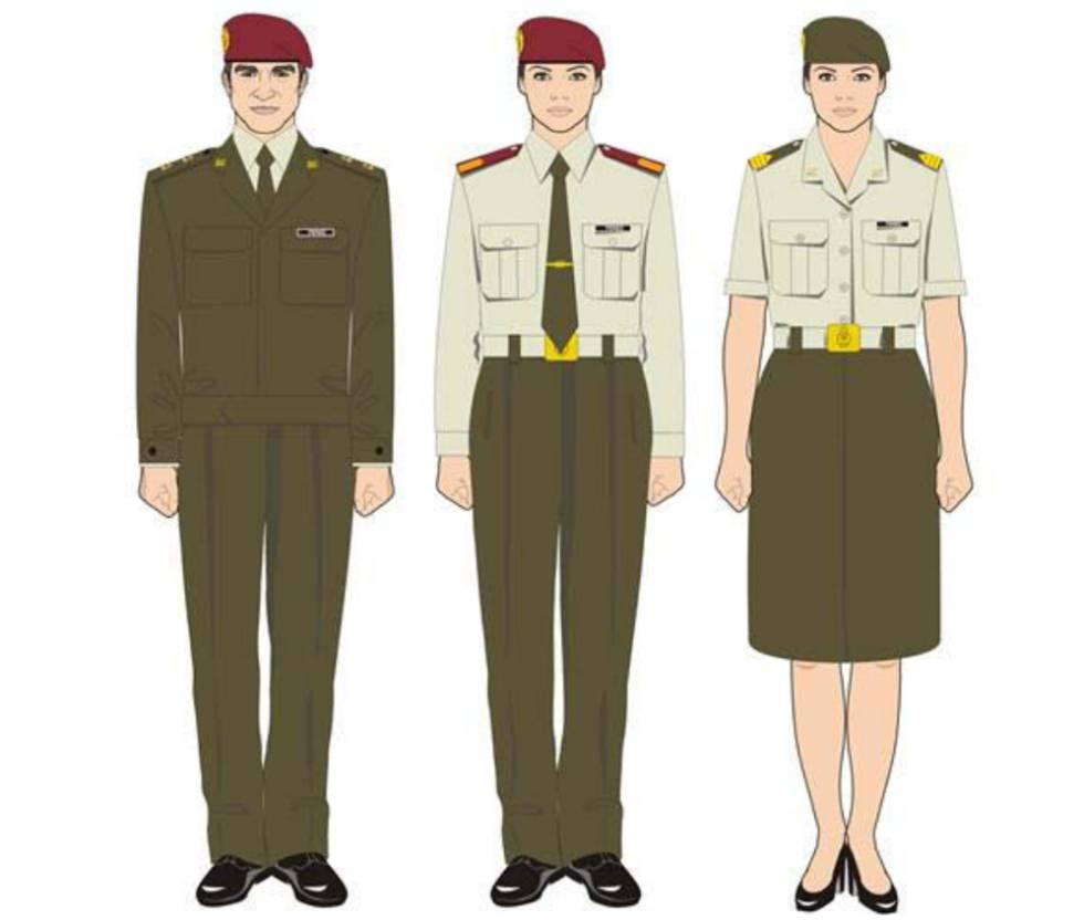 Modelos de uniformidad del Ejército de Tierra.