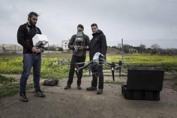 Dron utilizado en el documental sobre humedales.