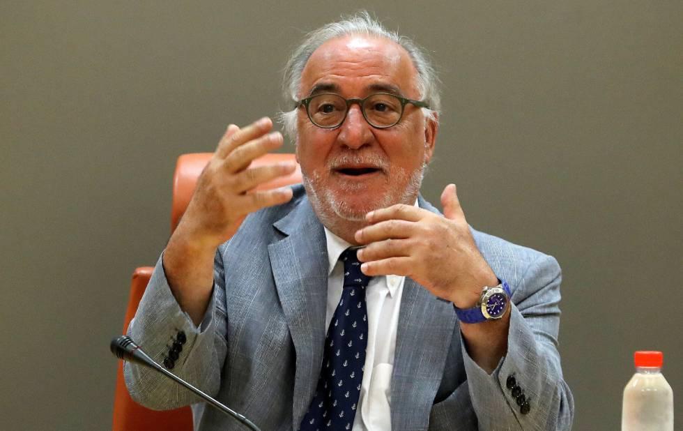 El director general de Tráfico, Pere Navarro, durante su comparecencia en rueda de prensa.