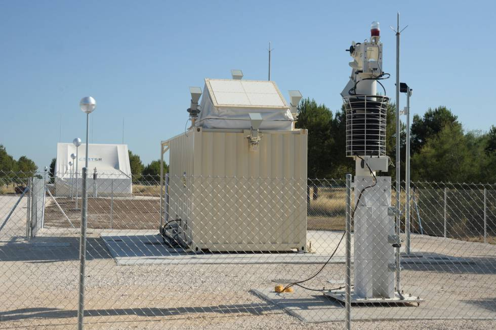 Radar de vigilancia espacial en la base de Morón de la Frontera (Sevilla).