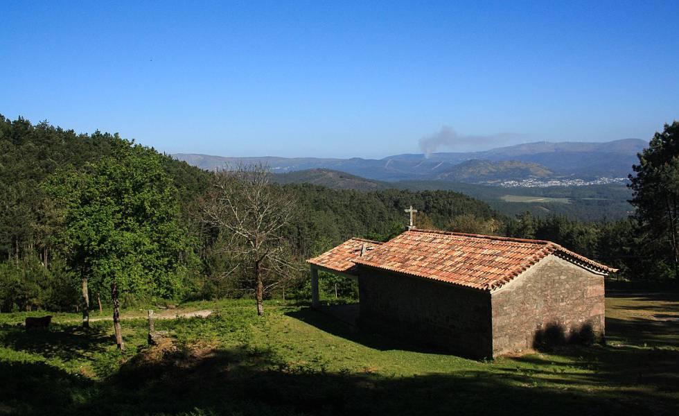 Vista de las inmediaciones del municipio O Rosal, en la provincia de Pontevedra, Galicia.