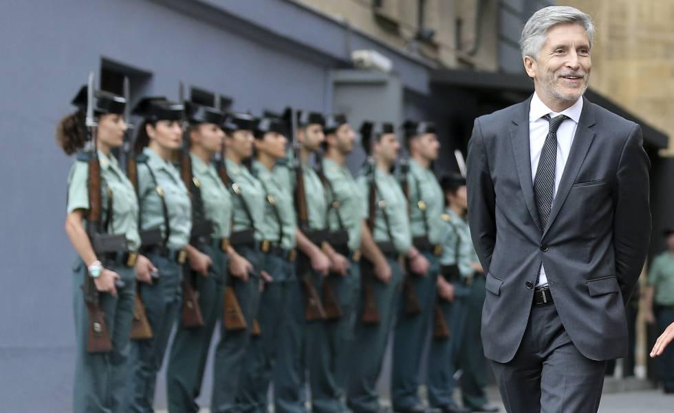 El ministro de Interior Fernando Grande-Marlaska, en un acto de la Guardia Civil celebrado este miércoles.