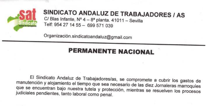 16.000 obreras temporeras marroquíes en los campos de fresas. Temporeras en Huelva denuncian al sindicato que las acogió. Las trabajadoras marroquíes acusan al SAT de apropiarse indebidamente de su dinero y hacerlas trabajar para sufragar sus gastos.  1538424858_806174_1538424955_sumario_normal_recorte1