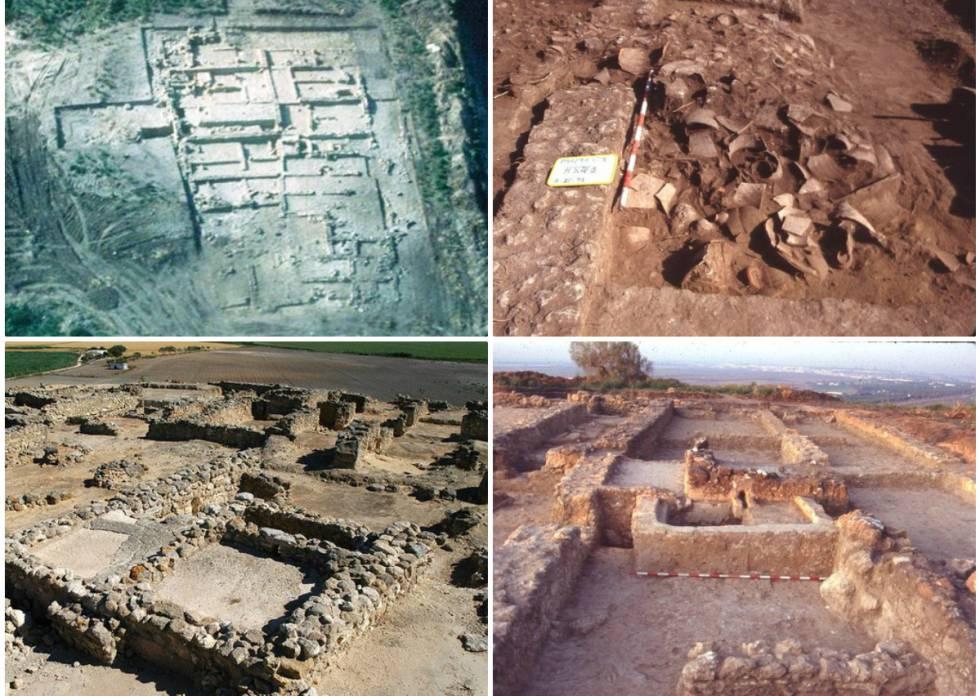 Yacimiento arqueológico fenicio con instalaciones para producir vino, del siglo III antes de Cristo en la Sierra de San Cristóbal, Cádiz.