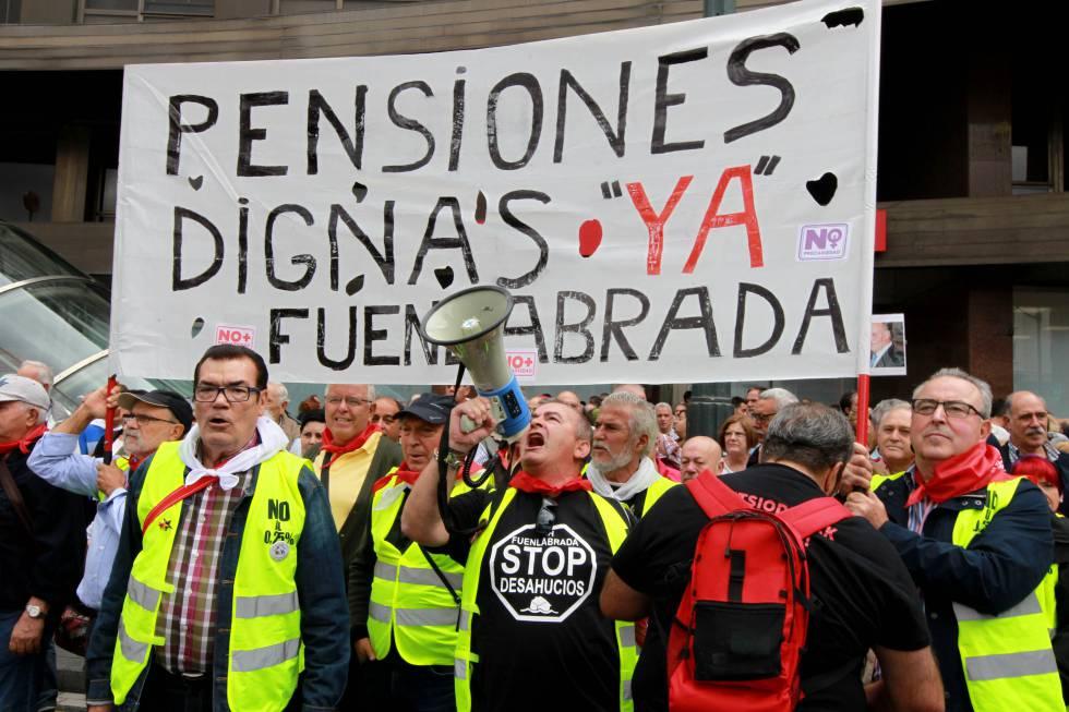 Manifestación a favor del mantenimiento de unas pensiones dignas.