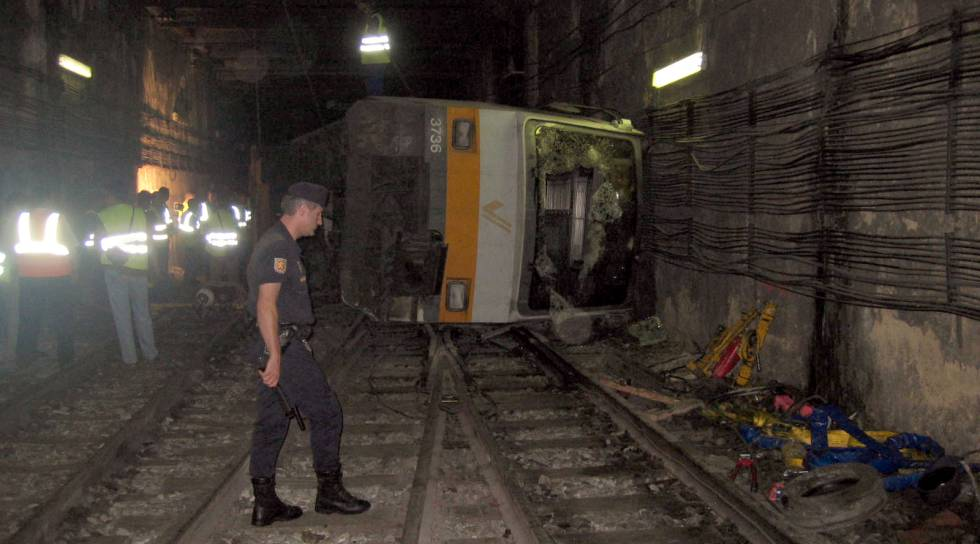 Imagen del accidente en el Metro de Valencia, en 2006.
