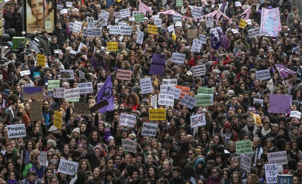 Manifestación contra la violencia de género el pasado 25 de noviembre en Madrid.