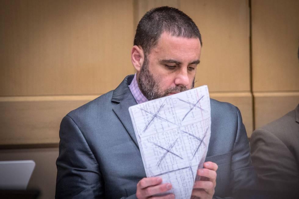 Pablo Ibar, durante el juicio que concluyó con un veredicto de cukpablidad contra él.