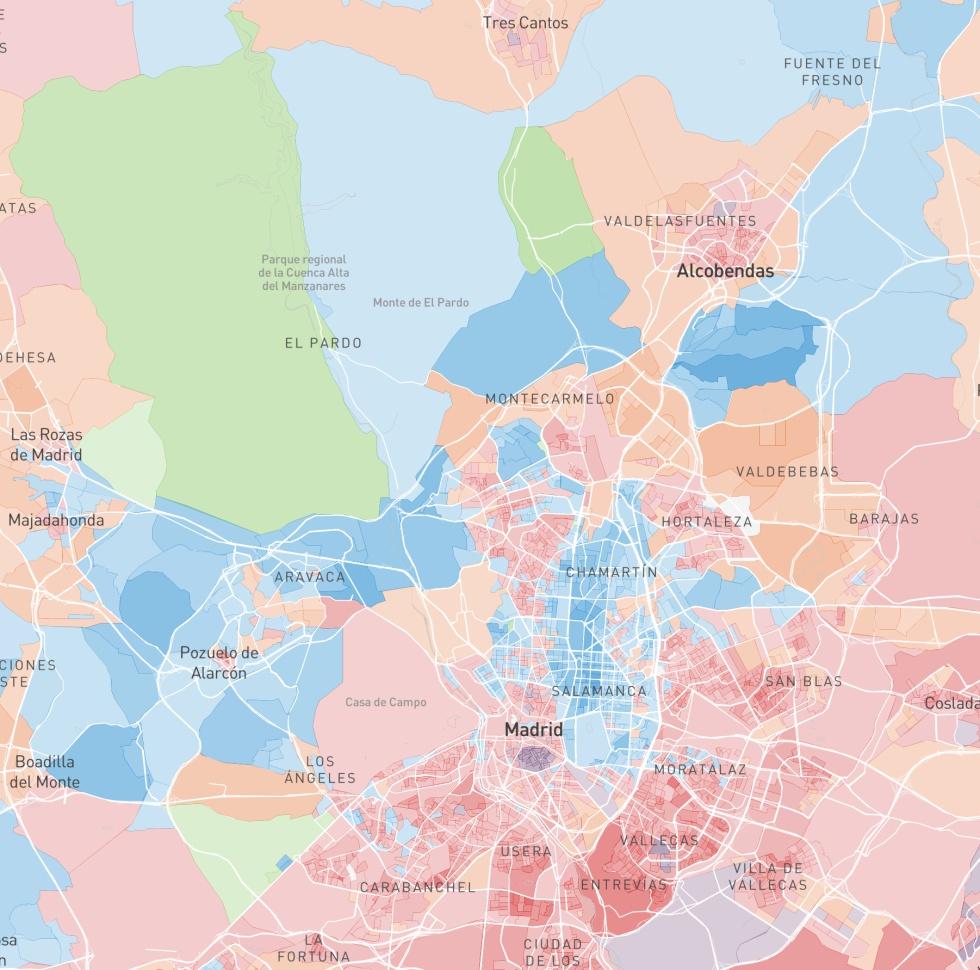 Mapa De Barcelona Calles.Elecciones Generales El Mapa Del Voto En Toda Espana Calle