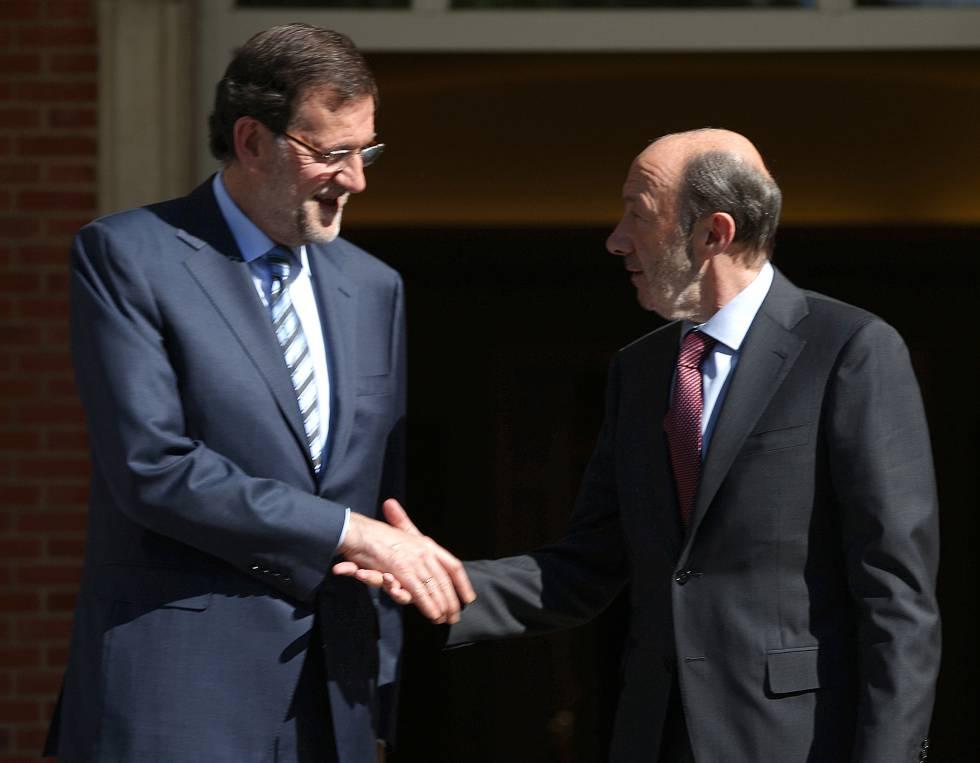 Mariano Rajoy Rubalcaba Un Rival Admirable España El País