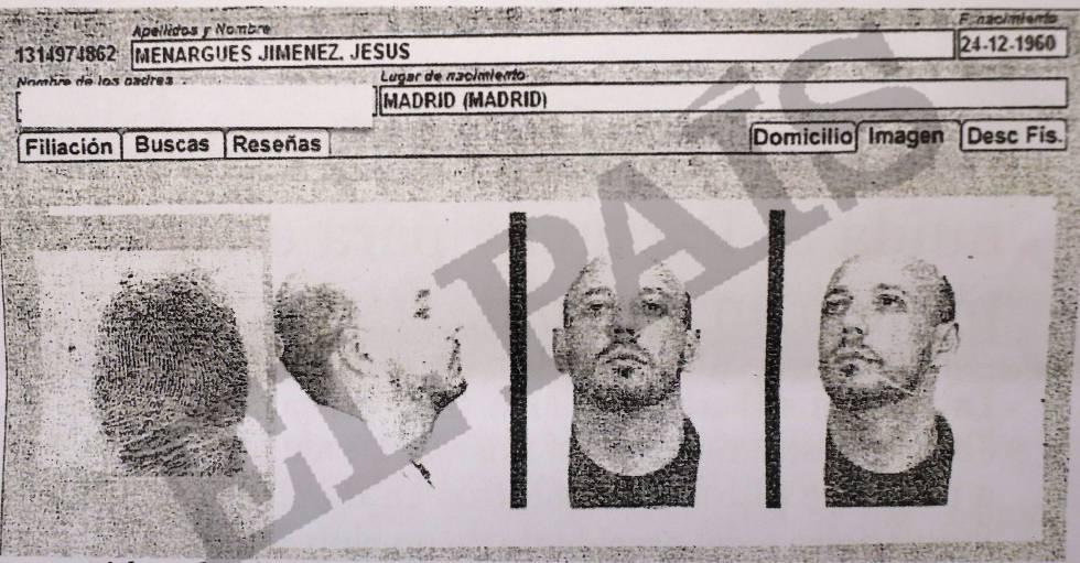 Ficha de la Policía Nacional de Jesús Menargues