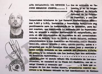 Atestado de la Policía Nacional de Jesús Menargues