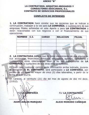 Otro de los contratos de asesoramiento entre la petrolera y la familia Morodo.