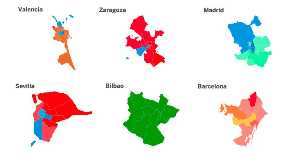 Mapa De Distritos De Malaga Capital.26m Los Resultados De Las Elecciones Municipales Distrito