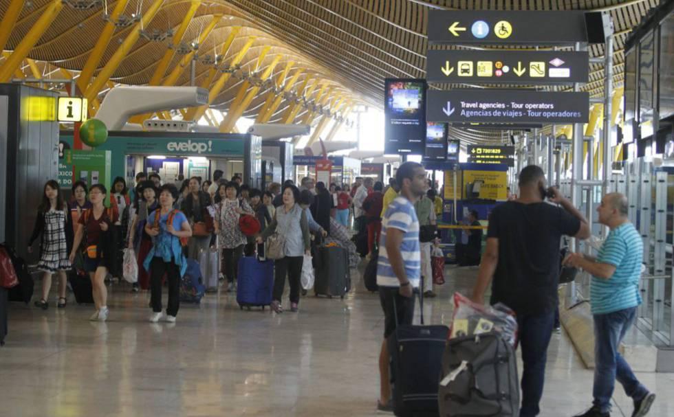 Aeropuerto de Barajas, en Madrid.