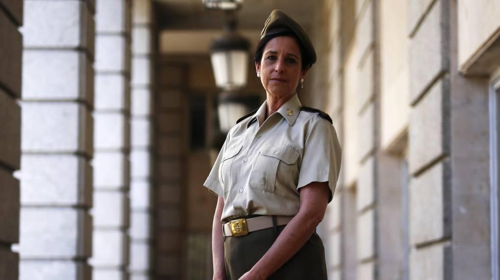 Patricia Ortega, en agosto de 2016, cuando fue ascendida a coronel.