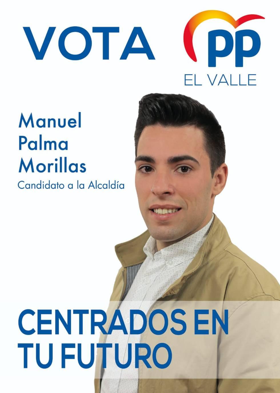 Manuel Palma, en un cartel electoral.