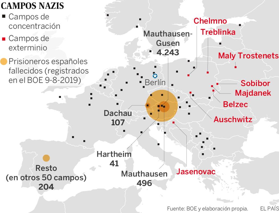 4.427 nombres españoles contra la barbarie nazi en Mauthausen