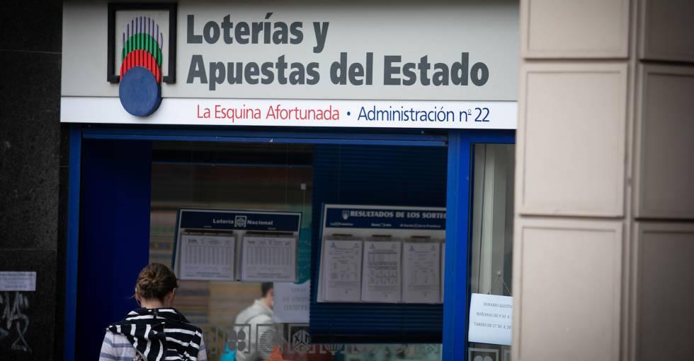 Administración de lotería de A Coruña donde fue hallado el boleto millonario.