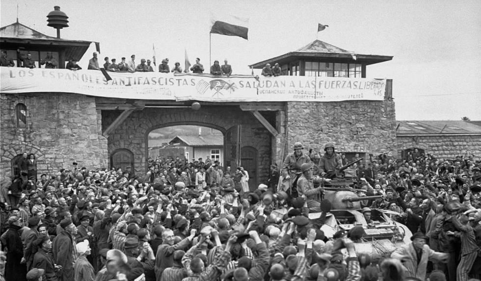 El día de la liberación de Mauthausen.