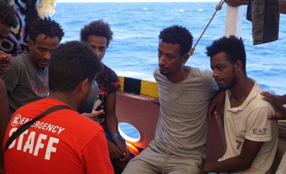 Some of those rescued by the 'Open Arms' receive psychological assistance.rn rn rn
