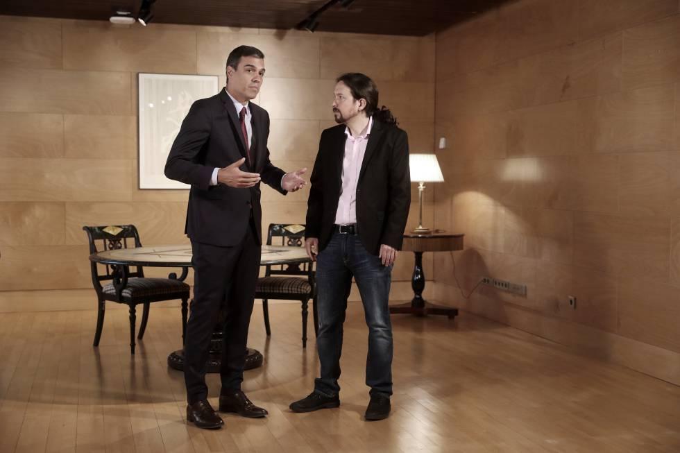 Sánchez e Iglesias en una reunión el pasado julio.