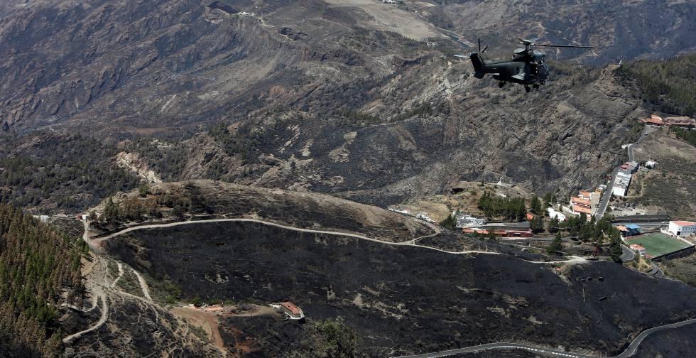 La Gran Canaria devorada por las llamas