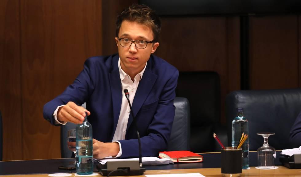 Íñigo Errejón en la Junta de Portavoces, este martes.