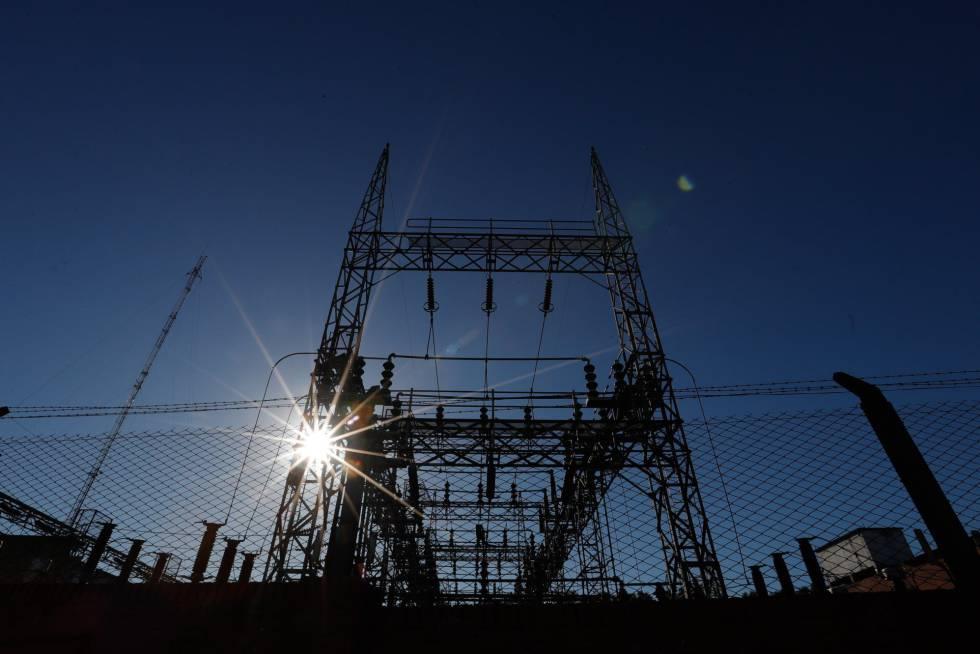 Vista de una subestación eléctrica.