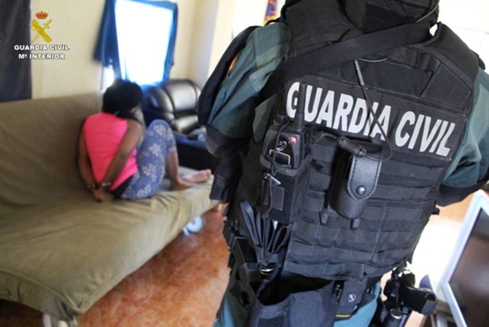 La mujer venezolana detenida, en una imagen facilitada por la Guardia Civil.
