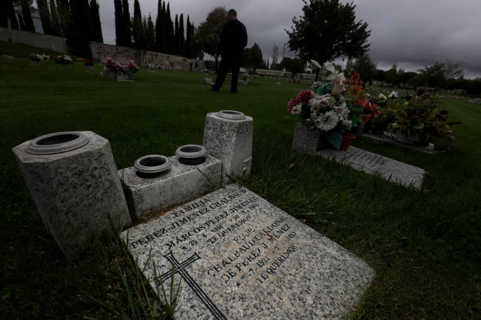 Tumba del dictador venezolano Pérez Jiménez en el Parque Cementerio de la Paz.