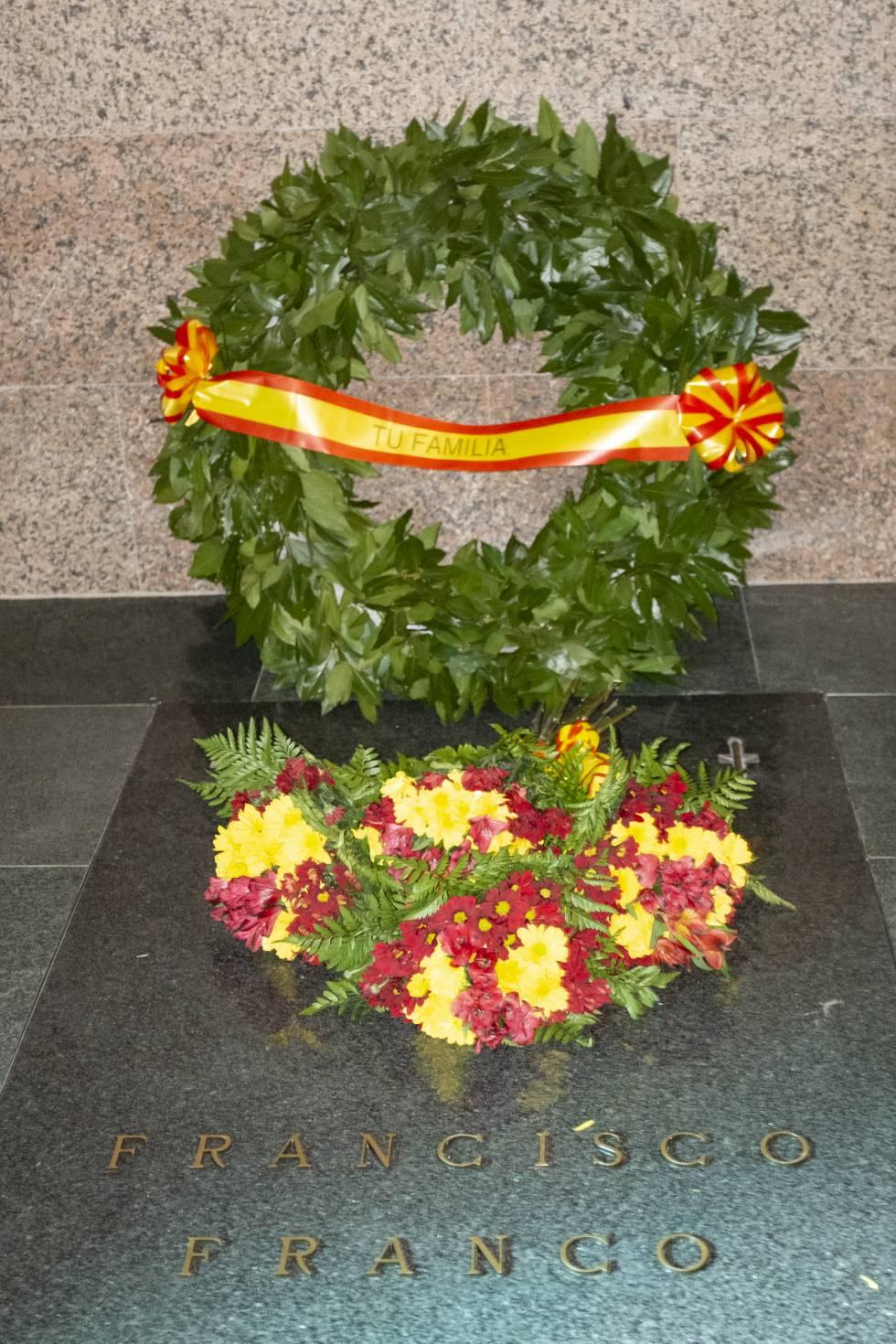 nueva tumba de Franco en Mingorrubio