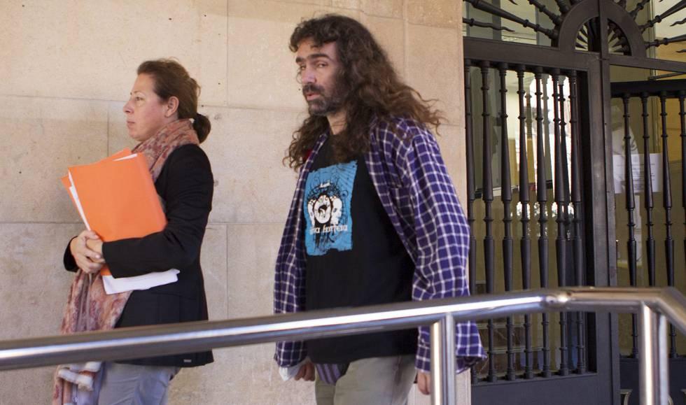 El juez Jerónimo Cano, responsable de la investigación, en los juzgados de Teruel.
