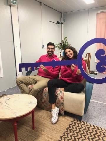 Xavi y Núria, ganadores de 'Viure ací, al centre'.