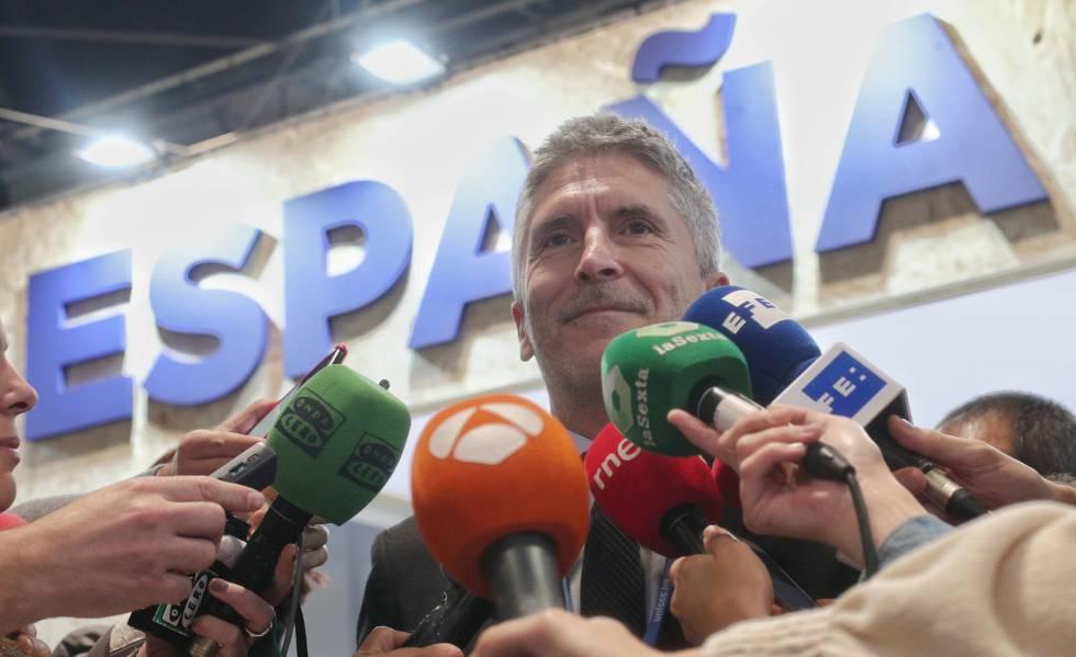 El ministro de Interior en funciones, Fernando Grande-Marlaska, la semana pasada en la Cumbre del Clima, en Madrid.