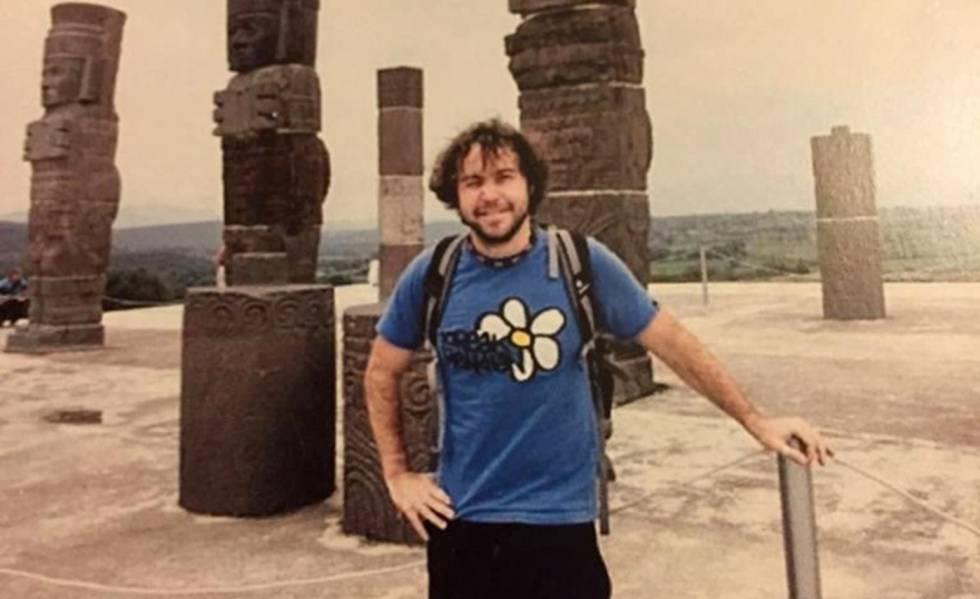 Borja Lázaro, en uno de sus viajes.