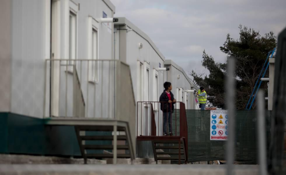 Centro de emergencia habitacional para refugiados en Madrid este martes.