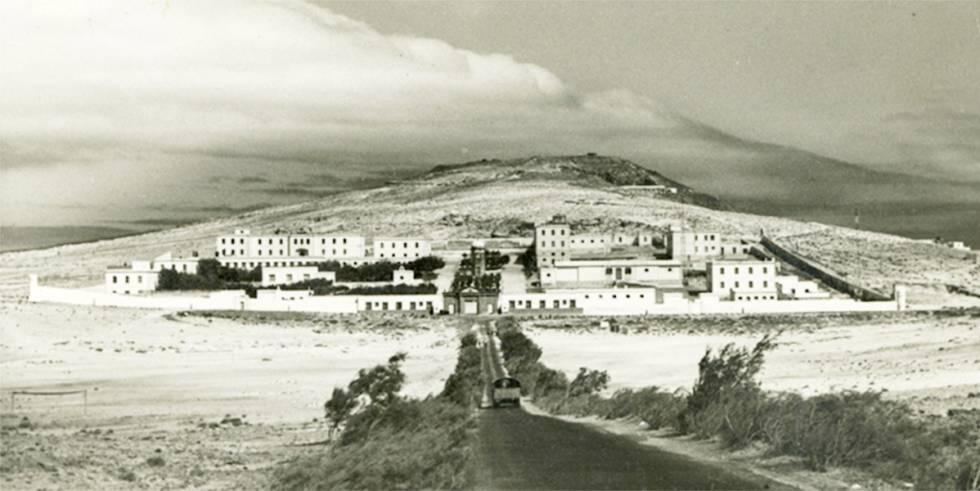 El lazareto en una imagen de mediados del siglo XX.