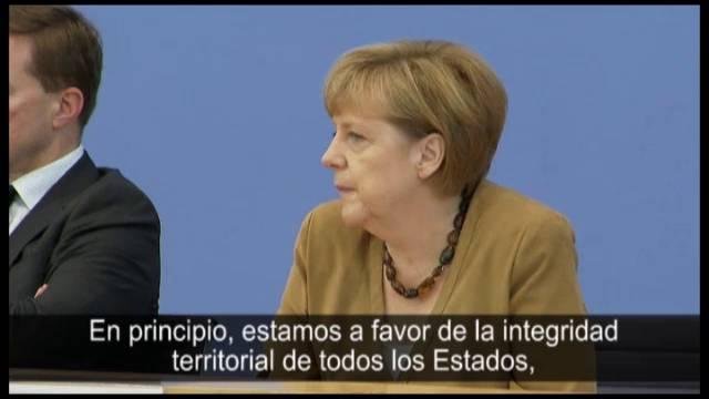 """Merkel sobre la consulta catalana: """"Opino como el Gobierno español"""""""