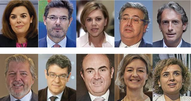 Gobierno de espa a en el pa s for Ministros de espana