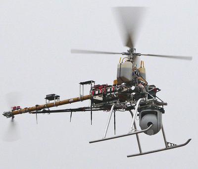 Un robot volador para controlar el estado de las líneas eléctricas ...