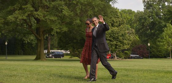 Barack Obama junto a su esposa Michelle, este lunes en Washington.