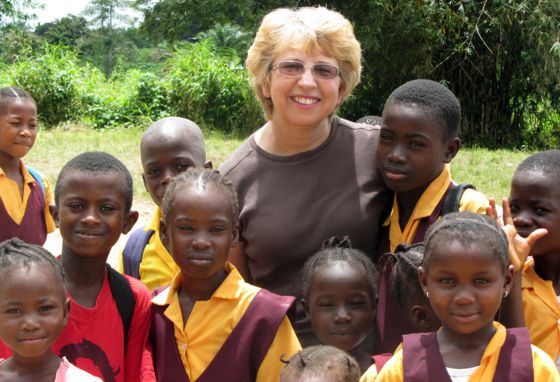 Nancy Writebol, en Liberia, en una foto de 2013.