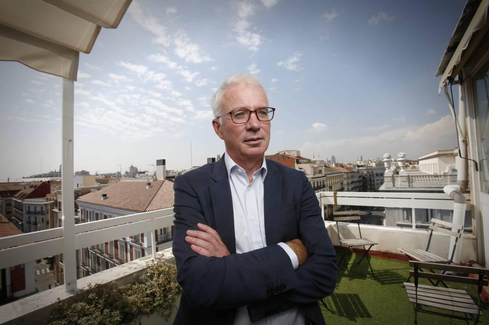 Peter Sands, director del Fondo Mundial contra el Sida, la Tuberculosis y la Malaria, el martes en Madrid.