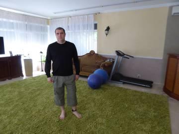 Albert Totchilovski, en su casa bajo arresto, el pasado jueves en Kiev.