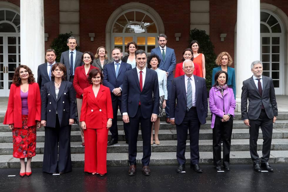 El gobierno que, el pasado junio, formó Pedro Sánchez. El más feminista de la historia.