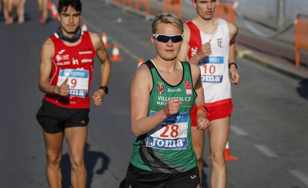 Takacs, en el campeonato de España de 50km marcha.