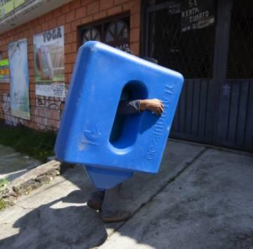 Instalación de un sistema de captación de agua de lluvia en Ciudad de México.