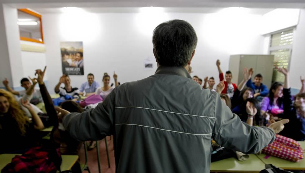 Clase de religión en un instituto de Madrid.